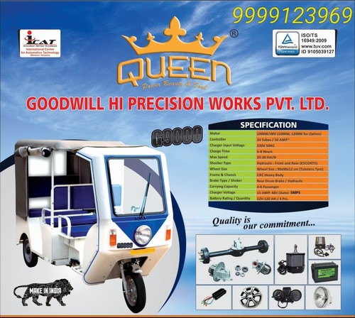 Green Loading Electric Rickshaw