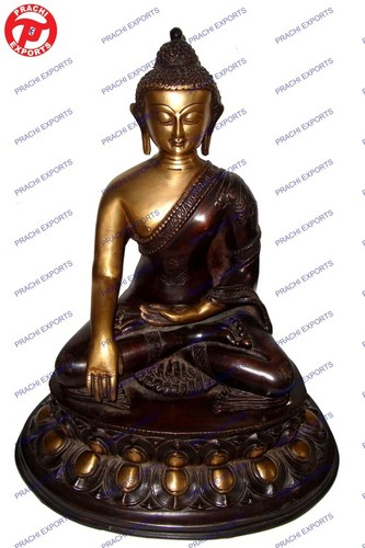 Buddha Sitting Sakyamuni On Oval Base
