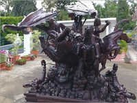 Scorpio In Rose Wood Art Piece
