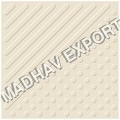 Tab Buttons Ivory Full Body Vitrified Parking Tiles