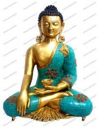 Buddha Sakyamuni W/Out Base W/ Stones & Wire Beed