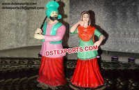Wedding Punjabi Couple Fiber Statue