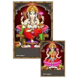 Laminated Ganesh Laxmi Posters