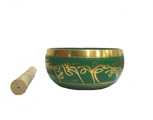 NEPALI SINGING BOWL GREEN PATINA