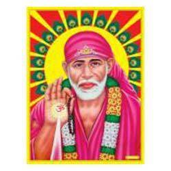 Sai Baba Poster in Gold Foil 24K