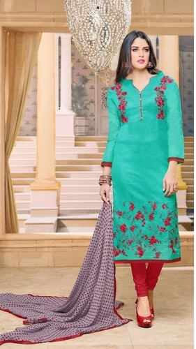 Fancy Designer Party Wear Cotton Salwar Kameez