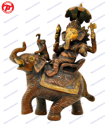 GANESH SITTING ON ELEPHANT W/UMBRELA