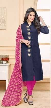 Ethnic Designer Party Wear Semi Stitch Salwar Kameez