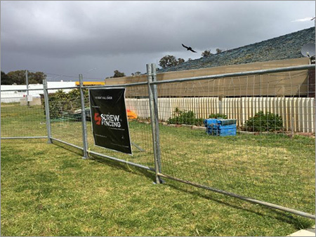 Temporary Fence Supports