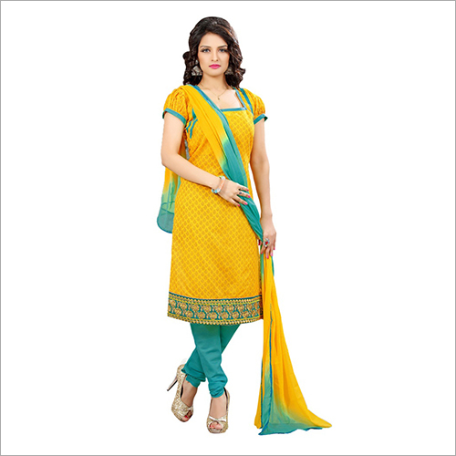 Latest Chanderi Dress Material