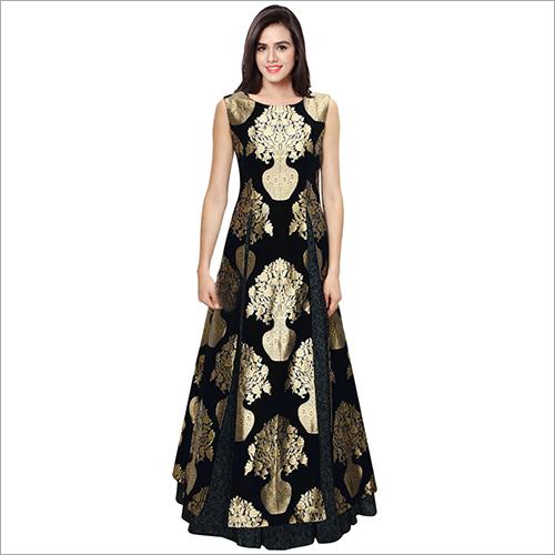 Jacquard Designer Gown