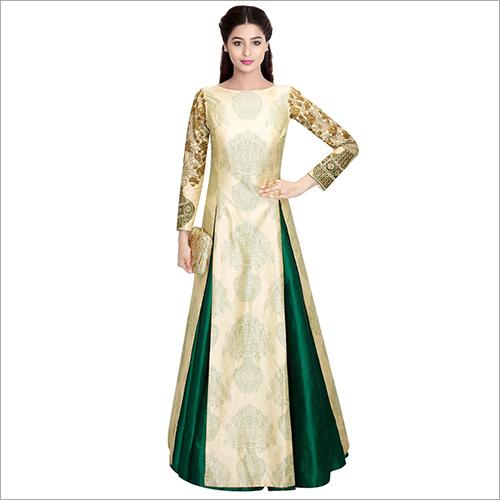 Taffeta Silk Gown