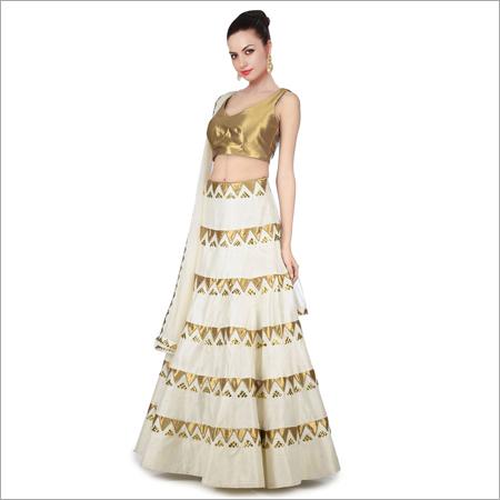 Banglori Silk Semi Stitched Lehenga Choli
