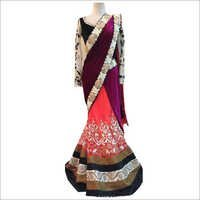 Satin work Party Wear Saree