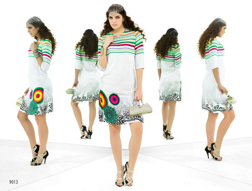 Stylish Designer Party Wear Digital Print Kurti