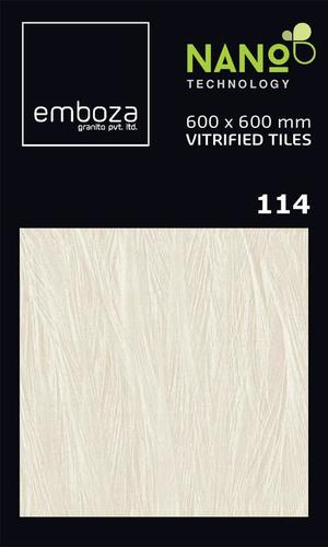 Ivory Vitrified Nano Tiles 600X600mm