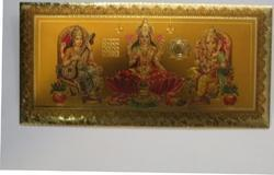 Gold Plated Envelopes for Diwali Pujan