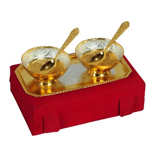 Gold Plated Brass Mini Bowl Capsul Set