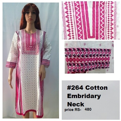 Embroidery Cotton Long Kurti