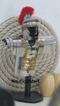 Hill Interiors Mini Roman Lorica Segmentata Suit Of Armor On Stand By NauticalMart