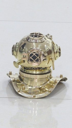 Retro Look Designer Mini Divers Helmet Collectible Brass Finish By NauticalMart