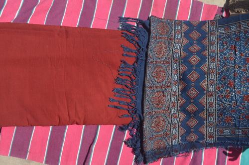 Ajrakh Printed Running Fabric