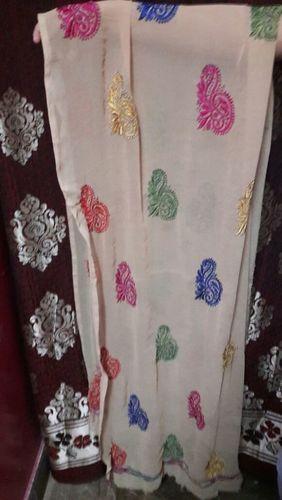 Chikankari Embroidery Running Fabric