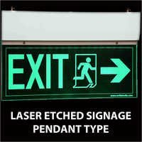Laser Etched Signage Pendant Type