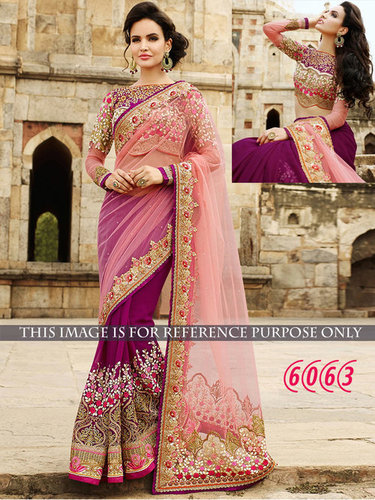 Designer Party Wear Georgette & Nylon Net Saree