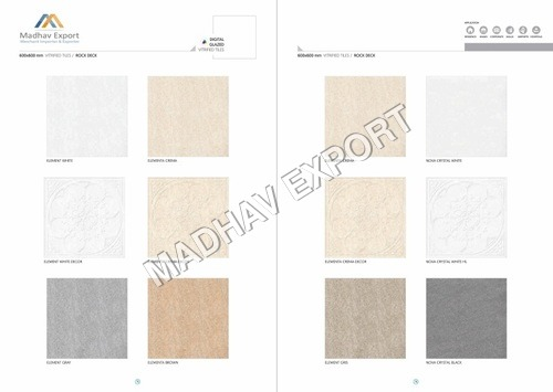 Elementa Crema Decor Digital Glazed Vitrified Tiles