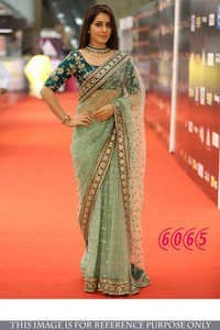 Exclusive Fancy Designer Party Wear Nylon Net Saree