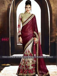 Designer Exclusive Party Wear Maroon Color Saree