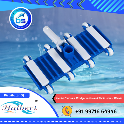 Flexible Vacuum Head for in Ground Pools with 8 Wheels