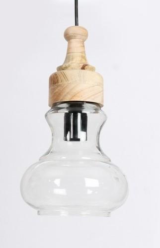 NATURE WOOD GLASS PENDANT LAMP