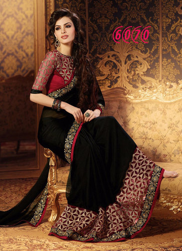 Designer Party Wear Georgette Stylish Saree