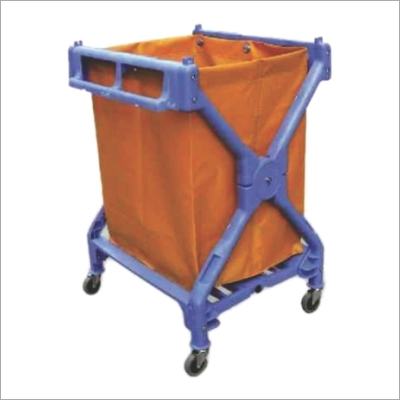 Plastic X-Shape Laundry Cart