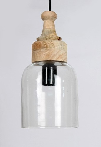 WOODEN CYLINDER PENDANT LIGHT