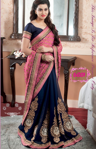 Fancy Designer Party Wear Georgette Saree