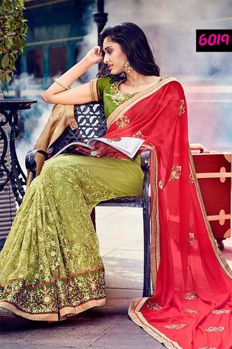 Stylish Designer Party Wear Georgette & Net Saree