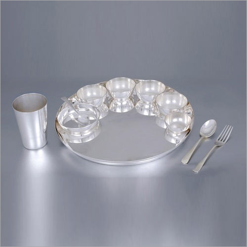Silver Plated Thali Set - 11 Piece