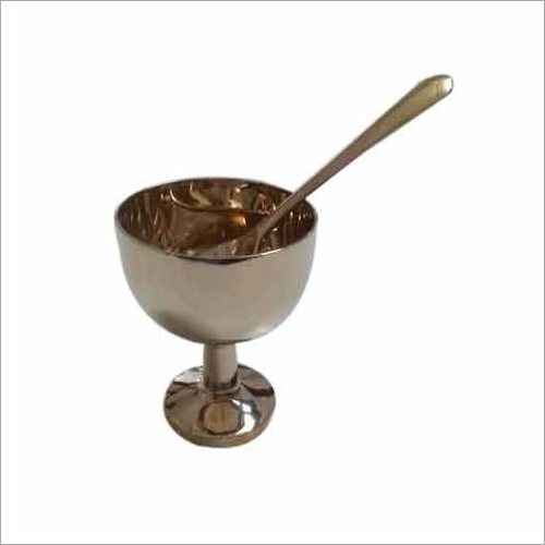 Bronze Ice Cream Cup and Bowl