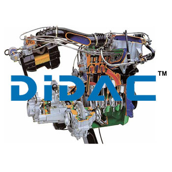 Multipoint Electronic Fuel Injection Petrol Engine with Gearbox Cutaway