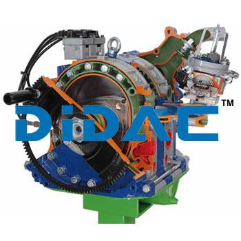 Twin rotor Wankel Petrol Engine Cutaway