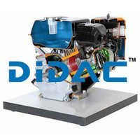 Single Cylinder Four Stroke Petrol Engine Air Cooled Cutaway