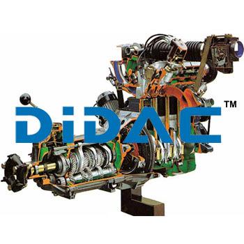 RWD L Jetronic EFI Petrol Engine with Gearbox Cutaway