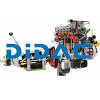 Carburettor Petrol Engine FIAT with Gearbox Cutaway