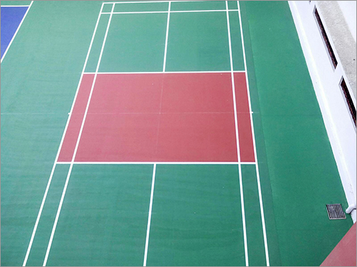 Outdoor Synthetic Badminton Courts