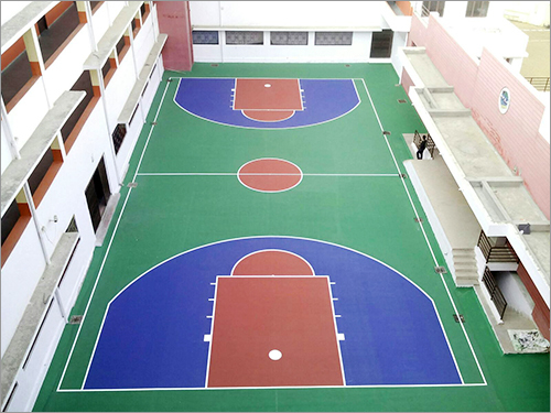 Basketball Court Jaipur Apex Int School