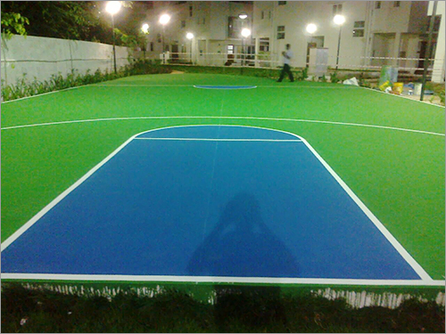 Navloor Chennai Basketball Court Acrylic Paint