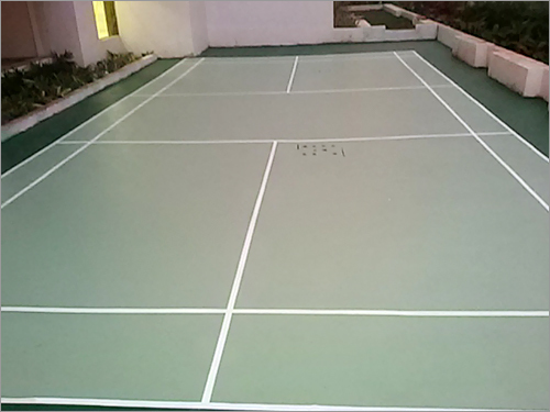 Outdoor PU Badminton Court